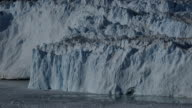 Beautiful little glacier calving at the front of the ice wall video