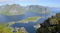 HD TIME-LAPSE: Beautiful Lofoten panorama video