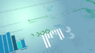 Beautiful looped 3d animation of Stock Market Financial Figures and Diagrams Growing on Digital background. HD 1080. Loop. video