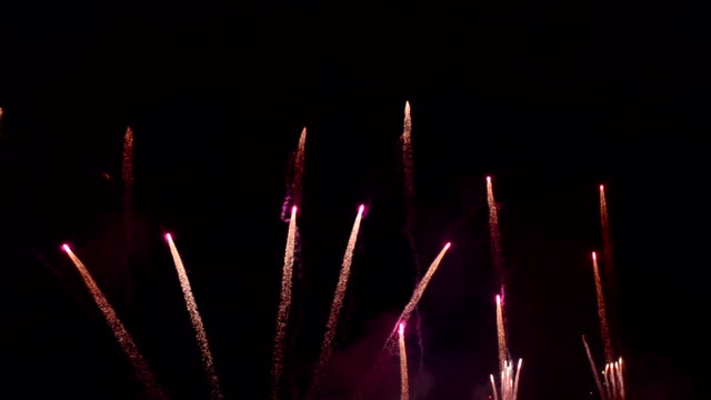 Beautiful Low Attitude Firework Blooming video