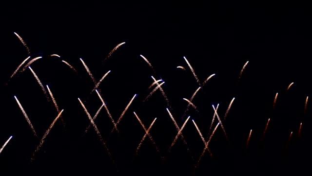 Beautiful Low Attitude Firework Blooming video