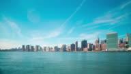 beautiful  manhattan panorama 4k time lapse from new york video
