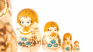 Beautiful Matryoshka dolls, hand painted art video