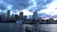 Beautiful Miami skyline in the evening video