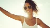 Beautiful Mixed Race Young Woman video