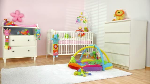 HD DOLLY: Beautiful Modern Nursery Room video