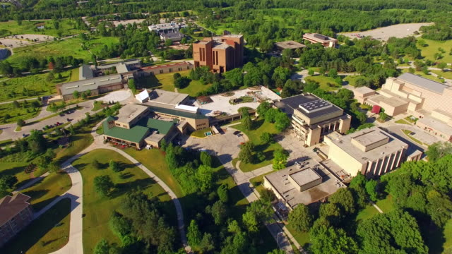 Beautiful Morning Over University of Wisconsin Green Bay Campus video