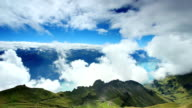 beautiful mountain and cloud video