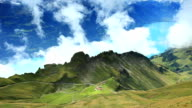 beautiful mountain cloud in rothorn kulm video