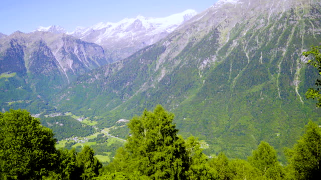 Beautiful mountain landscape in the Swiss alps in the summer. video
