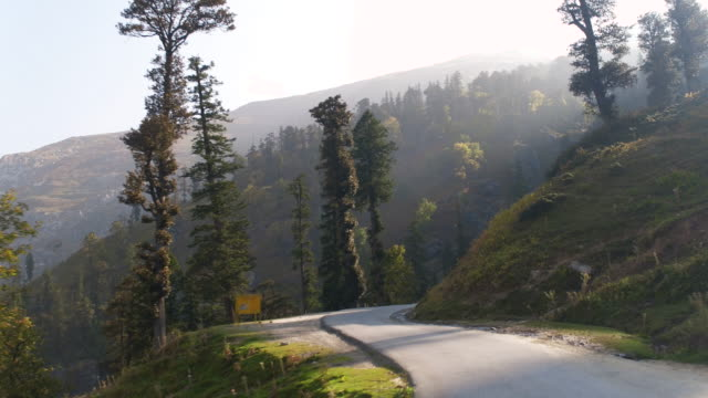 Beautiful mountain road in the Himalayas video