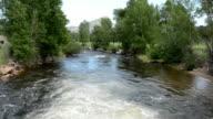 Beautiful mountain stream video