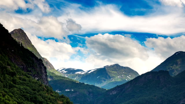 Beautiful Nature Norway timelapse. video
