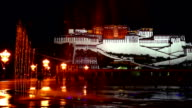 Beautiful night scenery of the Potala palace video