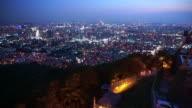 Beautiful night view of Seoul, Korea's capital city from Namsan mountain video