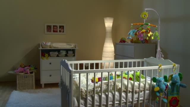 HD: Beautiful Nursery Room At Night video