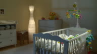 HD DOLLY: Beautiful Nursery Room At Night video