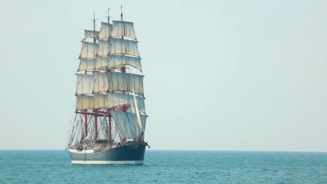 beautiful old sailing barque video