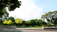 Beautiful park land with in cloud Time Lapse. video