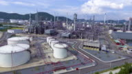 Beautiful Petroleum Refinery  Plant with Complex Pipeline. video