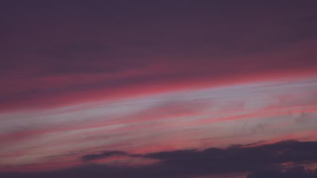 Beautiful pink sunset video