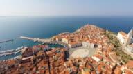 HD HELI: Beautiful Piran Peninsula video