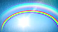 Beautiful Rainbow with the Sun and Rain. Time Lapse. HD 1080. video