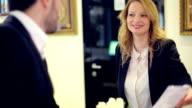 Beautiful receptionist video