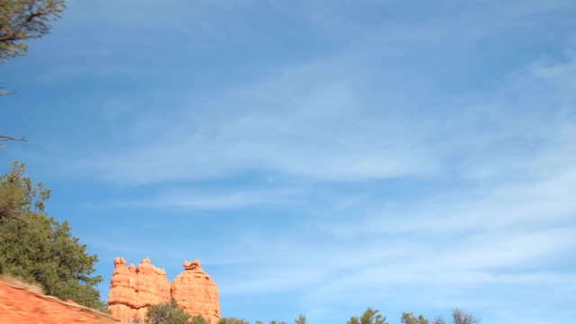 CLOSE UP: Beautiful red rock pillar formations in Bryce Canyon National Park video