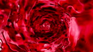 Beautiful Red Wine in Vortex Rotation. 3d animation with Alpha Channel. HD 1080. video