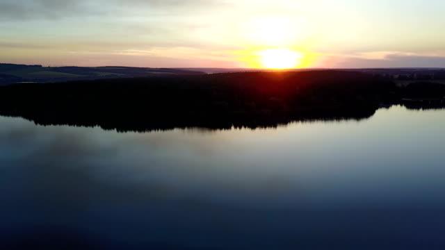 Beautiful River At Sunset video