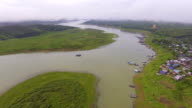 Beautiful River Junction in Rural Area video