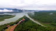 Beautiful River Junction in Rural Area video