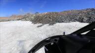 Beautiful Scenic form Helicopter takeoff from glacier video