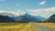 Beautiful Scenics and overlooking Mt. Cook ,New Zealand video
