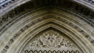 Beautiful scultpures on the wall of the Westminster Abbey video