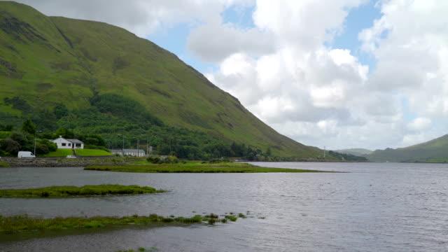 Beautiful sea fronting the big mountain Ireland video