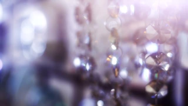 Beautiful shining elegant crystals background. video