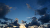 beautiful sky with clouds video