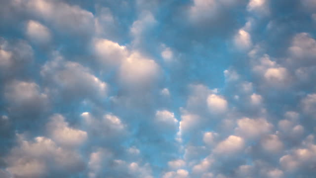 Beautiful sky with white clouds video