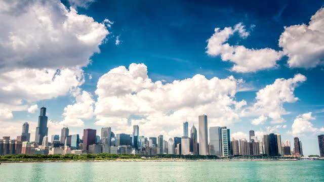 Beautiful skyline of Chicago, Illinois video