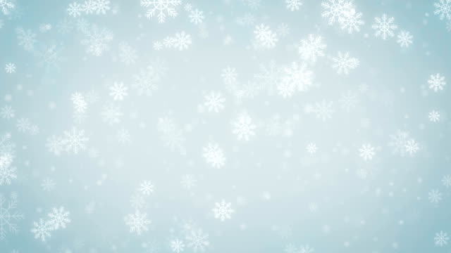 Beautiful Snowflakes, holiday background.Seamless loop video