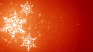 Beautiful Snowflakes - winter background.  Seamless loop video