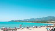 Beautiful summer beach, Spain, Europe video