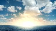 Beautiful Sunrise At Sea video