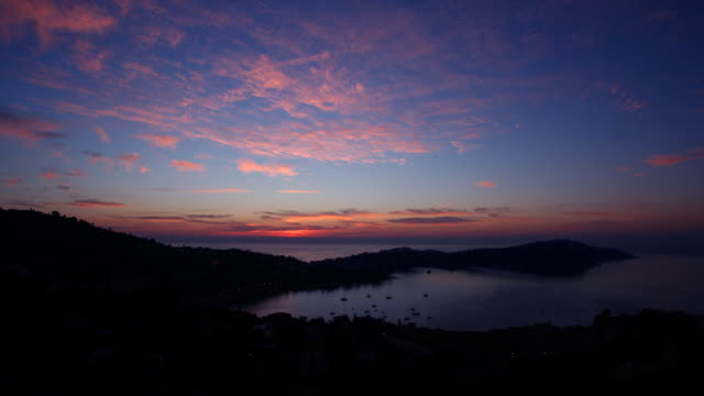 Beautiful Sunrise in Cote d'Azur video