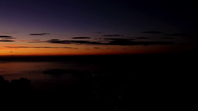 Beautiful  Sunrise over Cap Ferrat, France video