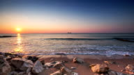 Beautiful sunrise over the beach, Dominican Republic, video video