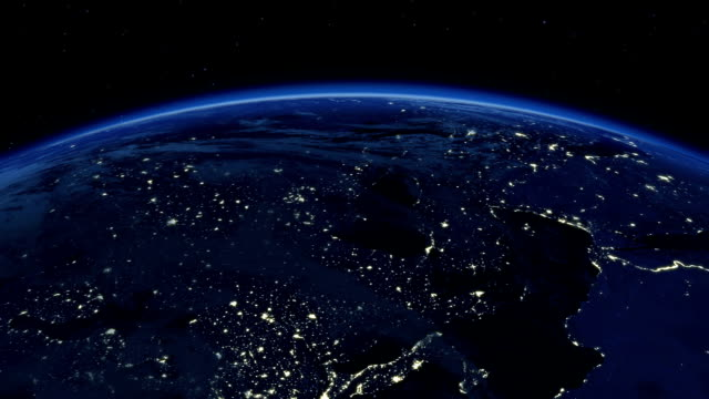 Beautiful Sunrise over the Earth. video