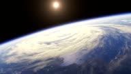 Beautiful Sunrise Over The Earth video